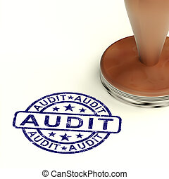 Audit Stamp Shows Financial Accounting Examinations