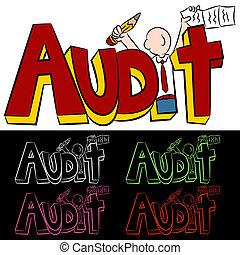 audit, texte, homme