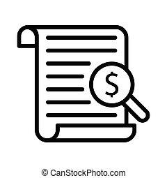 audit thin line icon