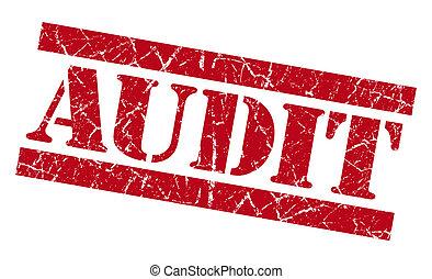 audit, timbre, grunge, rouges
