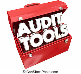 Audit Tools Toolbox Tax Accounting Review 3d Illustration