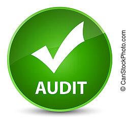 Audit (validate icon) elegant green round button