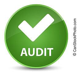 Audit (validate icon) elegant soft green round button