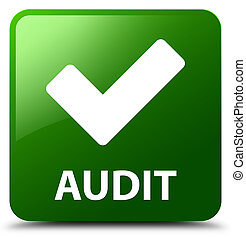Audit (validate icon) green square button