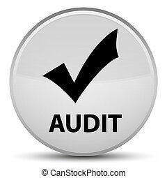 Audit (validate icon) special white round button
