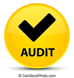 Audit (validate icon) special yellow round button