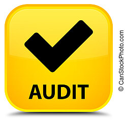 Audit (validate icon) special yellow square button