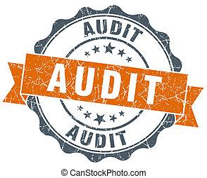 audit, vendange, isolé, cachet, orange, blanc