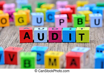 Audit word on table