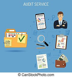 Auditing and Accounting Banner - Auditing, Business...
