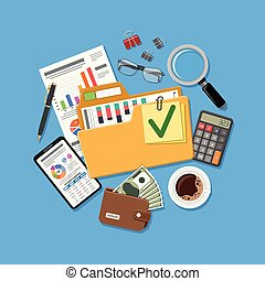 Auditing and Accounting Concept - Auditing, Business...