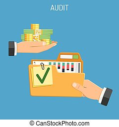 Auditing, Tax, Accounting Concept - Auditing, Tax process,...