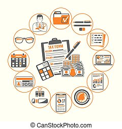 Auditing, Tax, Accounting Infographics - Auditing, Tax...