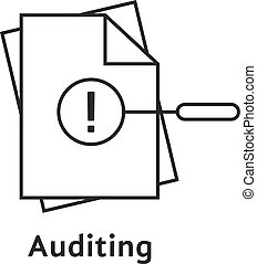 auditing with thin line document