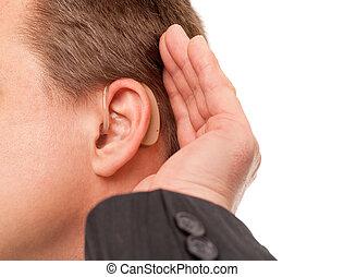 audition, entendre, utilisation, aide, vous, can't