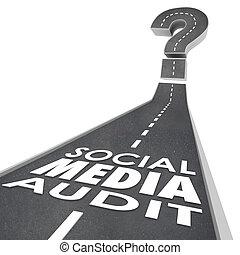 auditoría, campaña, monitor, eficaz, medios, social, ...