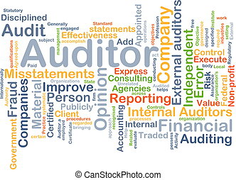 Auditor background concept