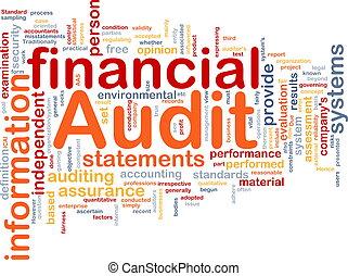 auditoria, conceito, financeiro, osso, fundo