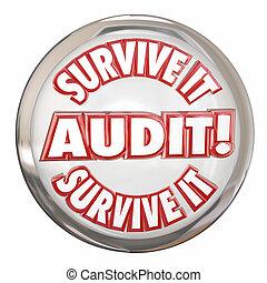auditoria, preparar, botão, aquilo, passos, sobreviver, ...