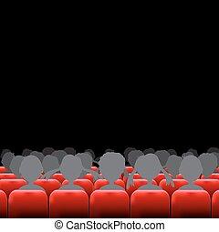 auditorio, schermo, posti, cinema