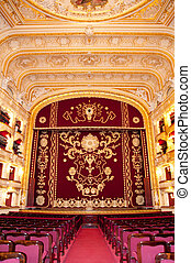 Auditorium and curtain