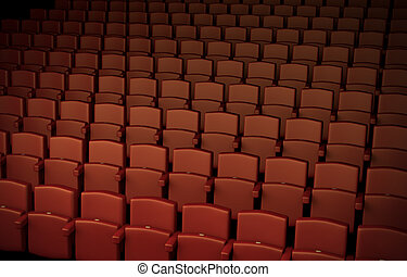Auditorium - High quality 3D rendered illustration of...