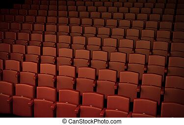 Auditorium - High quality 3D rendered illustration of ...
