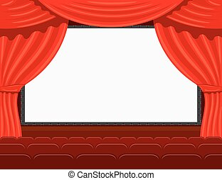 Auditorium of the the cinema. Stock vector