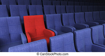 auditorium with one exclusive seat