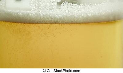 auf, ansicht, schließen, bier, gießen, glas