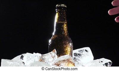 Auf, langsam, Fest, eis, Bewegung, hintergrund, bier,...