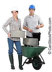 aufbau- arbeiter, weiß, hintergrund