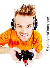 aufgeregt, gamer