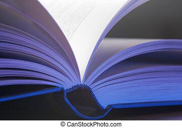 aufgeschlagenes Buch- pitches book - aufgeschlagenes, blau...
