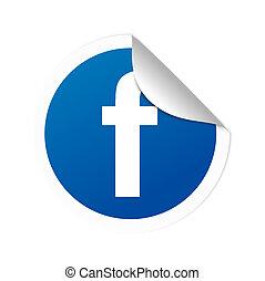 aufkleber, facebook