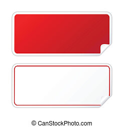 aufkleber, schwarz rot
