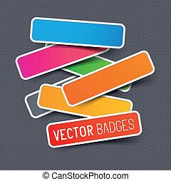 aufkleber, vektor, sammlung