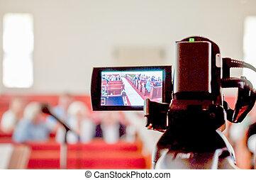 aufnahme, hochzeit, kameramann, video