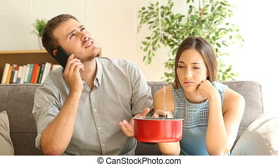 aufpassen, paar, umsturz, berufung, lecke, hausversicherung
