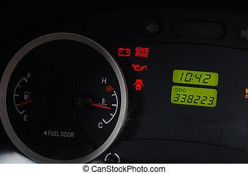 Licht Alarm Auto : Auto alarm auf schlagbrett licht kraftstoff schließen. status