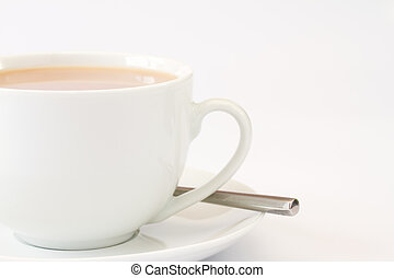 aufschließen, bild, von, tasse tee