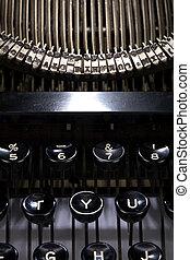 aufschließen, schreibmaschine