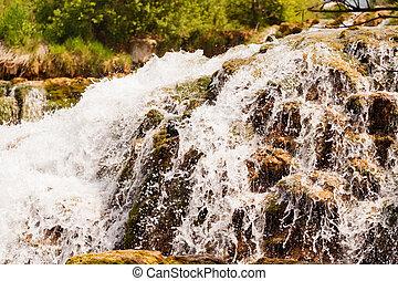 aufschließen, von, a, wasserfall, krka, nationalpark, kroatien