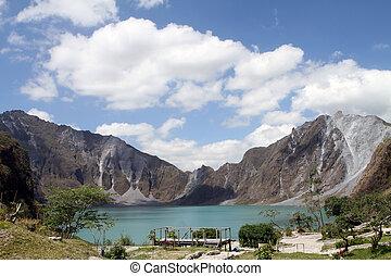 aufstellen, pinatubo, krater