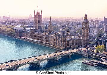 auge, skyline, london