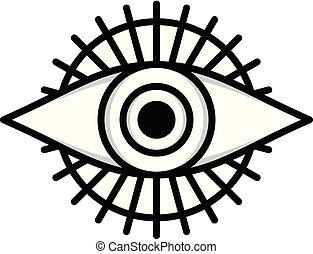 auge, symbol, logotype, eins, logo, zeichen