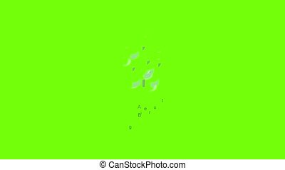 Auger bit icon animation cartoon object on green screen background