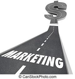 augmenté, business, commercialisation, haut, expansion, croissance, revenus, route
