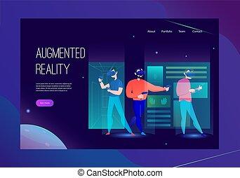 augmented, banner, wirklichkeit