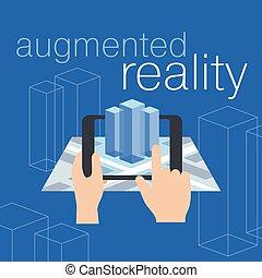 augmented, wirklichkeit, begriff